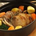 料理メニュー写真イタリア産ホエー豚と栗のロースト(野菜使用量190g)