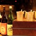 うおかんのこだわりの1つである全国各地の日本酒!全国新酒鑑評会において金賞を受賞した大吟醸の「ほしいずみ」など奥深い味わいのお酒を多数ご準備しています。加えて、蕎麦ちょこやチロリなど酒器にもこだわり、その酒器ならではの味わいもお楽しみいただけます。