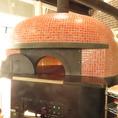 ピザ釜が備えられているので、いつでも焼き立てのピザを◎