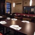 テーブル席個室貸切19名席。他の席とは離れていますので一つの空間としてお使いいただけます。