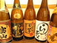 日本酒、焼酎、泡盛、ウィスキーなど「くーっ」とくるお酒も豊富♪