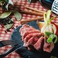 料理メニュー写真カンガルー肉のたたき