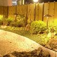 季節のお庭を望む和空間が広がります。接待やお食事会にもおすすめです。
