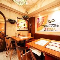 落ち着いた雰囲気の店内★三宮 焼肉 居酒屋 韓国料理