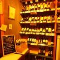 世界各国から集めたワインは常時100種以上のラインナップに!!ボトルワインも1本1,980円~とお得です!!