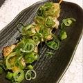 料理メニュー写真豚バラねぎ塩(2本)