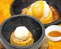 料理メニュー写真キャラメルアイス石焼ブリュレ
