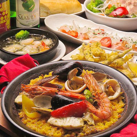 本格スペイン料理をお気軽に楽しめます◎友人や同僚、もちろんカップルにも♪