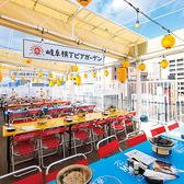 【全席開閉式の屋根完備】名鉄岐阜駅が見下ろせる東側ブロックのテーブル席は、4名/8名/12名/24名/36名...最大90名まで対応★フロア貸切も可能ですので、お気軽にご相談くださいませ!