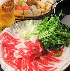 料理メニュー写真県産黒豚しゃぶしゃぶ