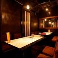 中目黒でイタリアンをご堪能いただけるテーブルタイプの完全個室は、周りを気にせずくつろげる空間です。7名様~10名様までご案内できますので、会社でのお集まりや女子会・飲み会などの各種ご宴会でぜひご利用ください。【要予約】