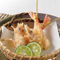 料理メニュー写真【天ぷら串】フランス産 最高級天使の海老