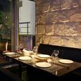テーブル席【6名様~10名様】接待やお祝いにもおすすめの落ち着いた雰囲気