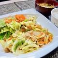 料理メニュー写真野菜炒め定食