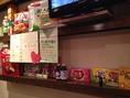 韓国と日本のお菓子も展示中♪