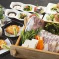 飲み放題付宴会コースは4000円~ご用意!人気の日本酒10種飲み放題もついてきます!全コースは銘々での提供となります。少人数~大人数での個室席をご準備しております。各種宴会のご予約お待ちしております!