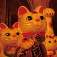 招き猫三人衆もいつでもお出迎え!