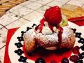料理メニュー写真ベリークリームのポップオーバー