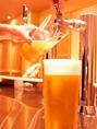 口当たりの良い「うすはり」のグラスを使って生ビールを提供しております。