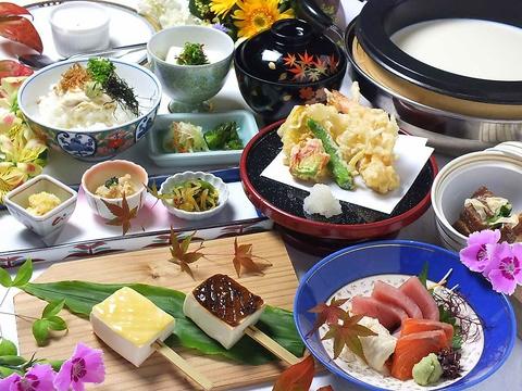 【銀ゆばZUKUSHIコース】10品3980円(税込) 〜レストラン限定プラン〜