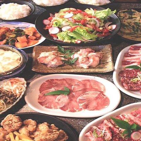 【9種類のお肉が味わえる!】食べ盛りコース3200円
