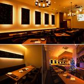 地中海レストランをモチーフにしたリゾート空間は最大72名様まで着席可能。立食時は最大100名様まで利用可能。時間外貸切・宴会貸切・ウェディング貸切などご予算に合わせてご用意致しますので、お気軽にお問合せ下さいませ。