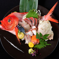 料理メニュー写真熟成魚のお造り3種盛り合わせ