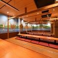 開放的かつ居心地の良い個室席や開放感あふれるお座敷、またお気軽に立ち寄れるテーブル席など種類豊富なお席をご用意しております。