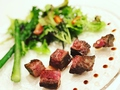 料理メニュー写真牛ハラミステーキ(100g)