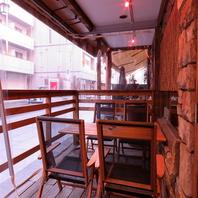 立川駅南口徒歩3分!開放的なテラス席もご用意。