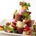 【宴会オプション】一気に華やか★ロールケーキツリー:3000円
