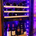 ワインセラーに高級ワインの準備もございます!!