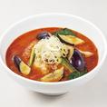 トマトと茄子は相性抜群☆ピリ辛スープと柔らかく甘ーい茄子が絶妙なバランスでまた食べたくなること間違いなし!+330円(税込)で付けられるセットメニューもございます♪