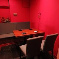 雰囲気抜群の個室席は2名様~5名様迄収容可能