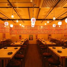 店内貸切最大108名/テーブル個室は20名