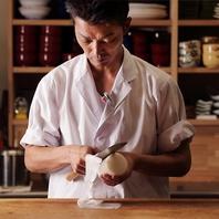 東京で修業した料理人が表現する繊細な品々は絶品!
