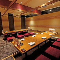 浜松町駅スグ!最大36名様まで対応の宴会用個室を完備!
