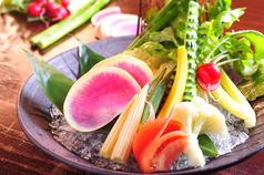 野菜スティック肉味噌・明太マヨネーズで