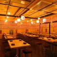 活気あふれる大衆酒場は各種宴会・貸切に最適。
