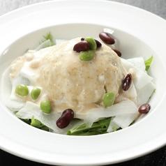 料理メニュー写真豆腐サラダ/サンチュサラダ/大根サラダ/コッチョリキムチサラダ