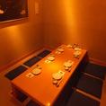 個室は全7部屋ご用意しております。2名個室×2部屋 4名個室×2部屋 6名個室×3部屋
