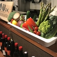 肉だけではなく、新鮮野菜も堪能できる!