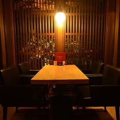 2名様~4名様までご利用可能のテーブル席です。