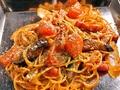 料理メニュー写真イタリアントマトの鉄板パスタ