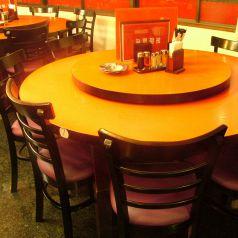 中華料理で代表的な円卓も整備!!