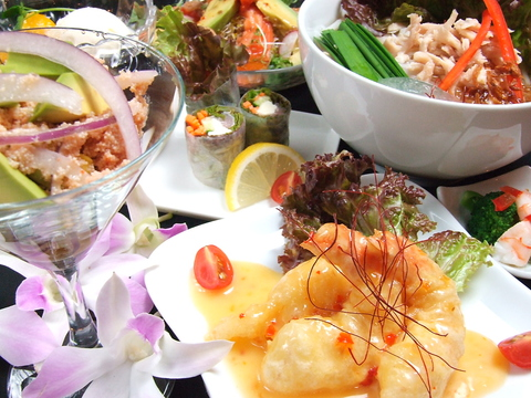 アジア各国の定番料理が楽しめる♪女子会や記念日使いにおすすめ★