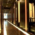 店内は全室完全個室。京都マルイ徒歩1分とアクセスも抜群なので集合場所にも最適!