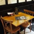 ゆったりカフェタイムにも!2名テーブル!