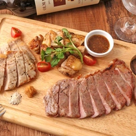 『肉料理』シェフが厳選した部位を素材に適した調理法で