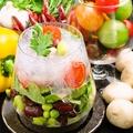 料理メニュー写真コラーゲンとビーンズのジャーサラダ